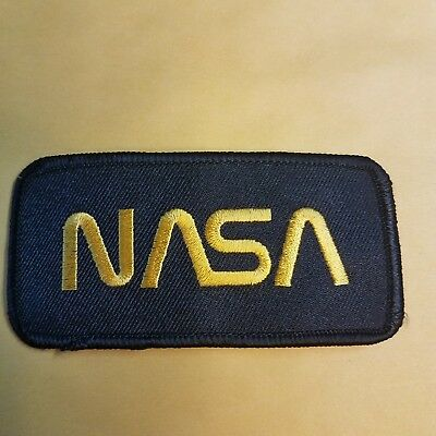 NASA Black embroidered Patch 3 3/4 inches long