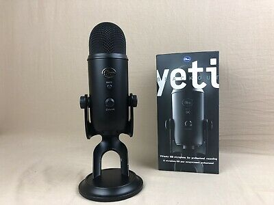 Blue Yeti Blackout Edition USB Condenser Professional Microphone