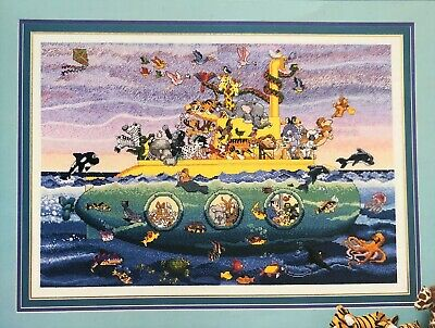 """""""Noah's Sub"""" Cross Stitch Pattern by STONEY CREEK COLLECTION Animals Two by Two"""