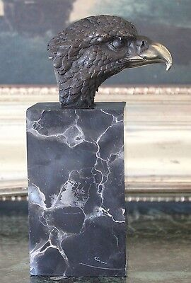Bird Eagle Scout Military Gift Law Enforcement Retirement Bronze Marble Statue