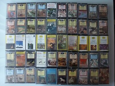 Lot 50 Classical Cassettes Bach Beethoven Schubert Wagner Mozart Dgg Philips