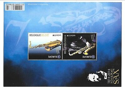 BELGIUM Sc 2704 NH SOUVENIR SHEET of 2014 - MUSIC - EUROPA CEPT