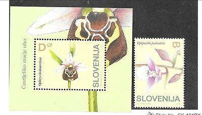 SLOVENIA Sc 572-3 NH issue of 2004 - FLOWERS