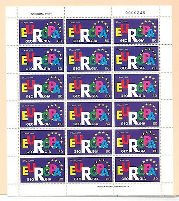 GEORGIA Sc 212-3 NH MINISHEETS OF 1999 - EUROPA CEPT