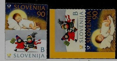 SLOVENIA Sc 437-40 NH issue of 2000 - CHRISTMAS