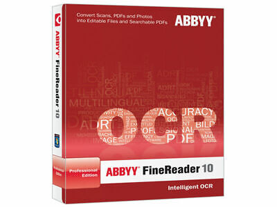 Abbyy FineReader 10 / Portable / PDF converter/SCAN TO DOC /professional edition