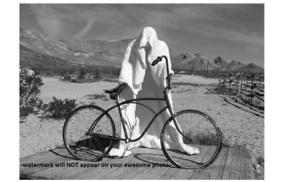 Creepy Bicycle Ghost Rider PHOTO Costume Freak Scary Halloween Art Print