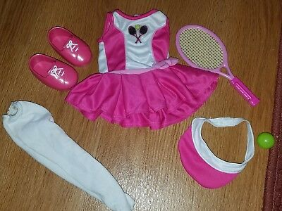 Pink tennis dress sports outfit 18 inch doll outfit fits American girl