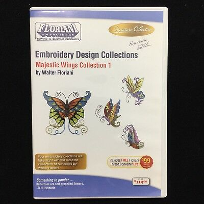 Floriani Embroidery Designs Multi-format CD Majestic Wings Signature Collection