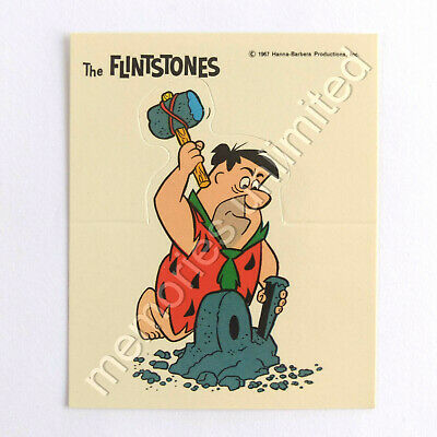 1967 Nabisco Weeties THE FLINTSTONES POP-UP CARD FRED WITH HAMMER & CHISEL