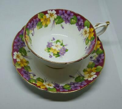 """vINTAGE Paragon """"Spring Melody"""" Cup and Saucer Made in England"""