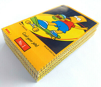 2000 Berri Juice Carton Container THE SIMPSONS CUT-OUT CARDS SET OF 50