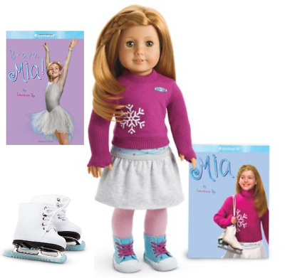 AMERICAN GIRL Mia/'s SILVER SKATE DRESS Outfit Mia DOLL /& SKATES are NOT INCLUDED