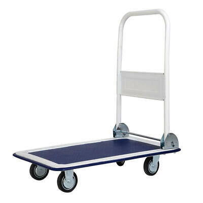 Goplus 330lbs Platform Cart Dolly Folding Foldable Moving Warehouse Push Hand Tr
