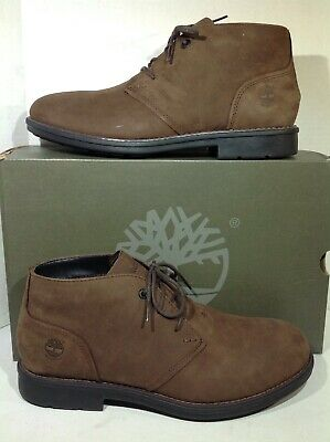 1305a863ff32 Timberland Mens Size 9.5 Carter Notch Brown Leather Casual Ankle Boots  YA-1021