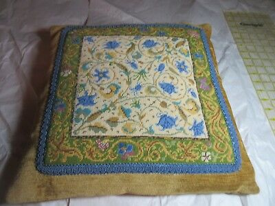 Ehrman Illuminated Manuscript Candace Bahouth Needlepoint Tapestry Pillow 15""