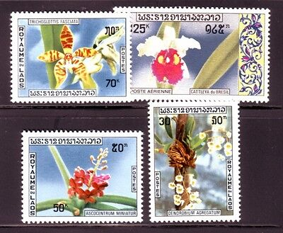 LAOS Sc 216-8 NH ISSUE OF 1971 - FLOWERS - ORCHIDS