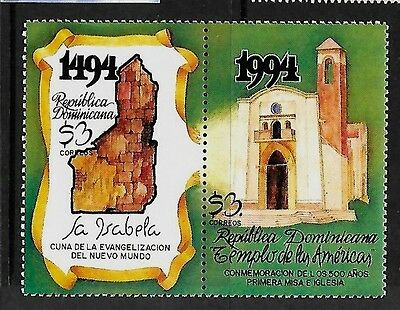 DOMINICAN REP. Sc 1170 NH ISSUE of 1984 - CHURCHES