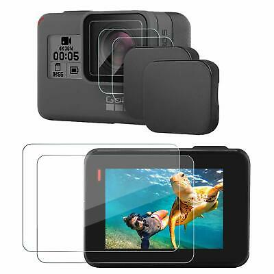 Lens Cap & Screen Protector For Gopro Hero 7 Black/6/5/, 2 Pack Protective Cover
