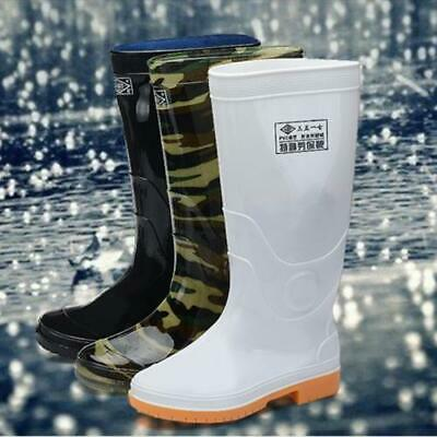 outdoor Mens Rain Boots Rubber Fishing Waterproof work Mid Calf Shoes