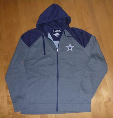 premium selection 4256a 494f4 MEN'S DALLAS COWBOYS Football NFL Zip Up Hoodie Jacket Size L XL NWT