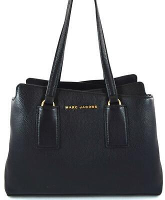 290812634fb6 Authentic New Nwt Marc Jacobs  500 Leather Double Edge Black Satchel  M0014470