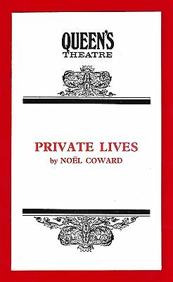 "Maggie Smith ""PRIVATE LIVES"" Robert Stephens / Noel Coward 1972 London Playbill"