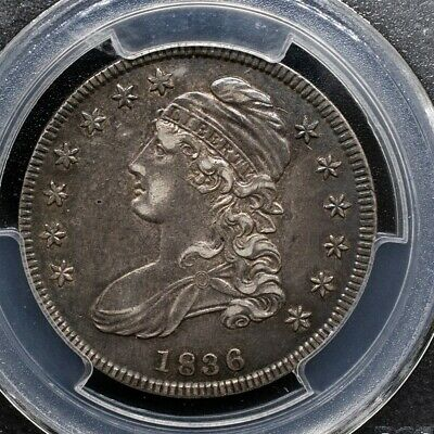 1836 Capped Bust Half Dollar Overton O-113 - PCGS AU50- Lettered Edge