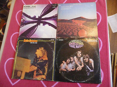Lot of 4 NICE LP's Thoughts Of Emerlist Davjack/Five Bridges/Elegy KEITH EMERSON