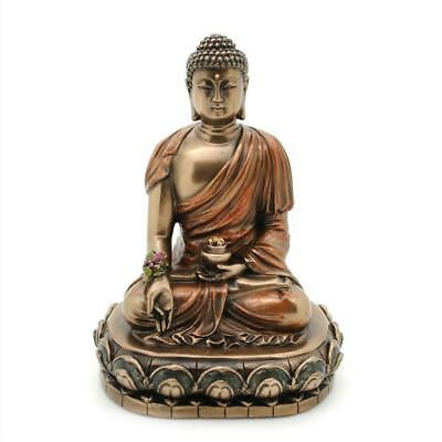 "MEDICINE BUDDHA STATUE 4.5"" Buddhist Wellness Icon Bronze Resin HIGH QUALIITY"