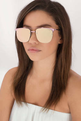 db9e7b281f268  60 NEW QUAY Australia Private Eyes Cateye Sunglasses in Pink  Rose ...