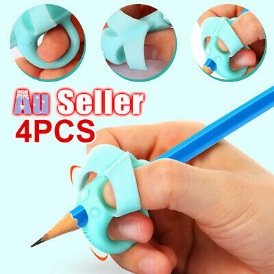 4Pcs Grip Children Aid Posture EU Writing Correction Tool Pen Pencil Holder