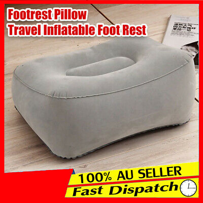 Footrest Train Inflatable Foot Rest Portable Plane Flight MN Pillow Travel Pad