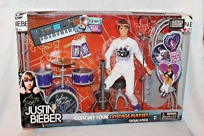 New In Box Justin Bieber Concert Tour On Stage Playset