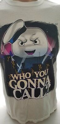 Vintage Ghostbusters T-shirt Who You Gonna Call Stay Puft Marshmallow Man Medium