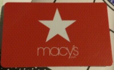 Macy's $50 Gift Card Red Star Card Money Gift