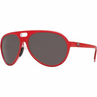 5d929bf42498e COSTA Del Mar GRAND CATALINA Polarized SUNGLASSES Red GRAY Lens 580P  FISHING Men