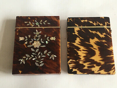 2 Lovely Victorian Card Cases