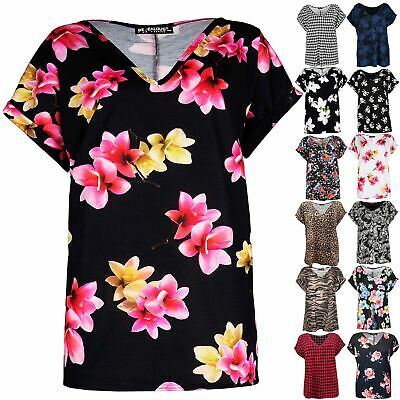 a95aa17f Plus Size Womens Ladies V Neck Halloween Oversized Batwing T Shirt Baggy  Tee Top