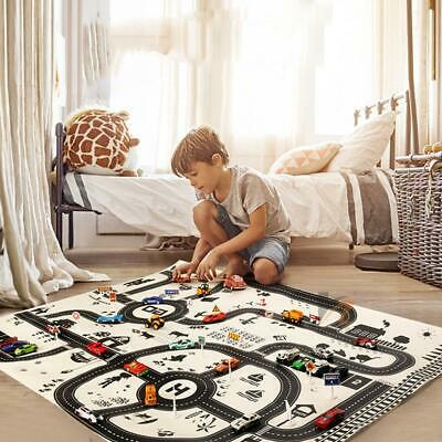 Kids City Road Play Mat Children Car Road Carpet Rug Playmat Learning Toys Set
