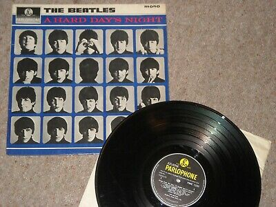 The Beatles vinyl lp A Hard Day's Night mono PMC1230 1st pressing chubby text KT