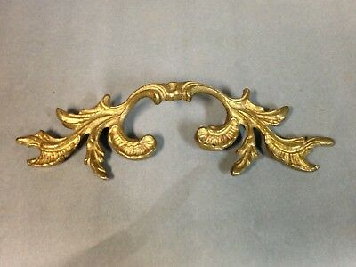 Antique Vintage Giant Solid Brass Shabby French Provincial Furniture Pull Handle