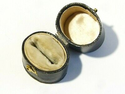 Antique Ring Box Jewellers Ring Case, Old Vintage Jewellery Georgian Victorian