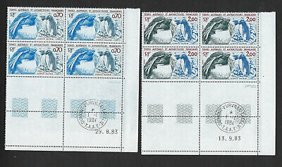 Timbre Taaf Neuf N° 105 Et N° 106 (Yvert) Coins Dates En Bloc De 4 Timbres N**