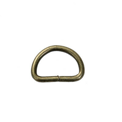 Open D Rings Antique Bronze Iron 11x7mm 10 Pcs Findings Jewellery Making Crafts