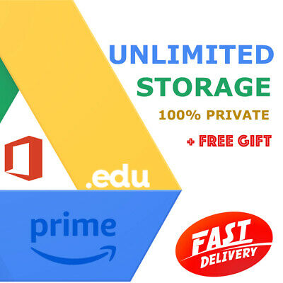 Unlimited Google Drive Storage Prime 6 Month Educ Domain 100% Secure On New Acc