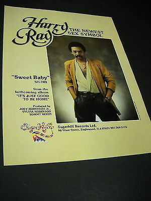 HARRY RAY SWEET Baby Rare Original Promo Poster Ad Framed! - $47 85