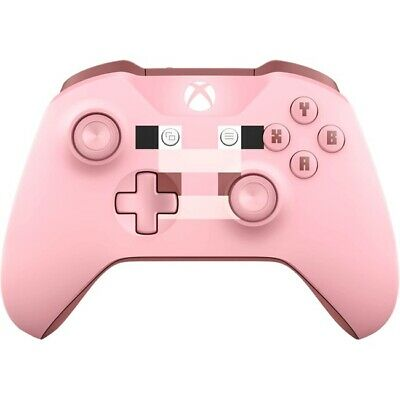 Microsoft WL3-00052 Xbox One PC Wireless Bluetooth Controller - Minecraft Pig