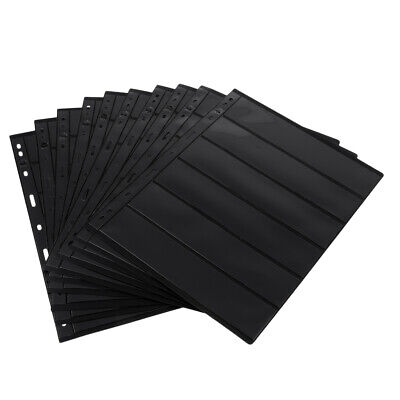 10x Black Paper Money Collection Album for Banknotes Display