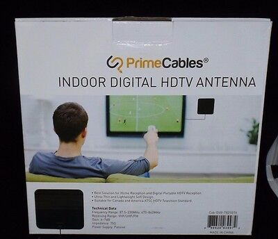 "HD TV Indoor Antenna - Maximal Range: 25 Miles  9"" x 8"" Access TV Channels Free"